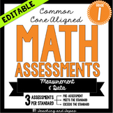 1st Grade Common Core Math Assessment - Measurement and Data