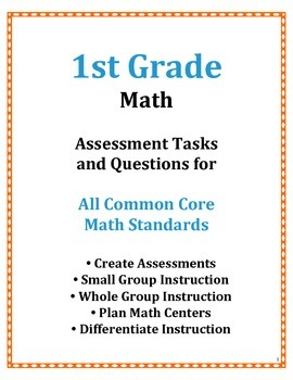 1st Grade Common Core Math Assessment Questions and Tasks