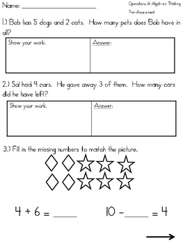 1st Grade Common Core Math Assessments