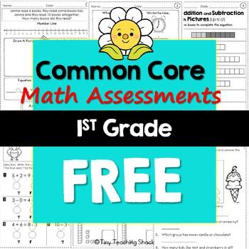 1st Grade Common Core Math Assessments- FREEBIE