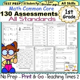 1st Grade Common Core Math Assessments (130 STUDENT PAGES)