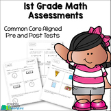 1st Grade Math Assessments {Pre and Post Tests Common Core Aligned}