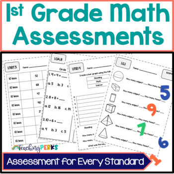 1st Grade Common Core Math Assessments {without standards