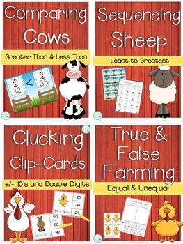 1st Grade Farm Themed Math Centers