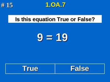 1st Grade Common Core Math - Determine If Equations Are True Or False 1.OA.7