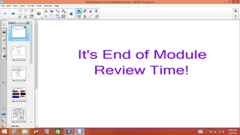1st Grade Common Core Math End of Module 5 Review for Test