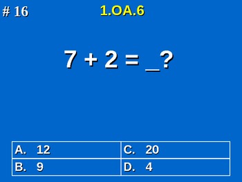 1st Grade Common Core Math Fluently Add & Subtract Within 20 1.OA.6