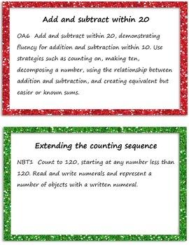 1st Grade Common Core Math Focus Posters