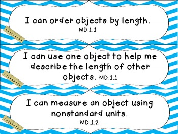 1st Grade Common Core Math I Can Statement Cards