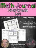 Math Journal for Firsties- Set 1