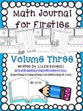 Math Journal for Firsties Volume 3