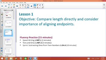 1st Grade Common Core Math Module 3 Topic A Lessons