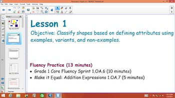 1st Grade Common Core Math Module 5 Topic A Lessons