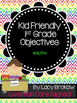 1st Grade Common Core Math Objectives