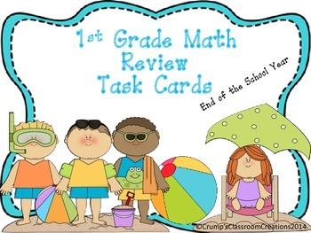 1st Grade Common Core Math Reveiw Task Cards
