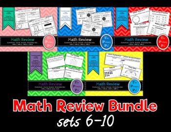 1st Grade Common Core Math Review Bundle: Sets 6-10
