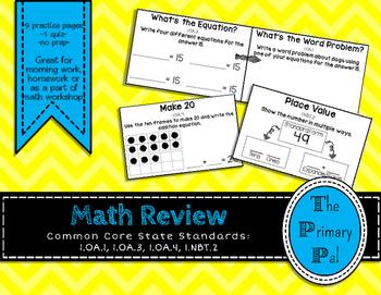 1st Grade Common Core Math Review: Set 10