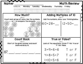 1st Grade Common Core Math Review: Set 12