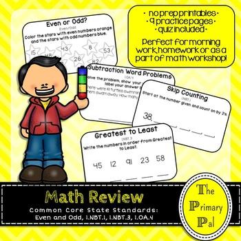 1st Grade Common Core Math Review: Set 14