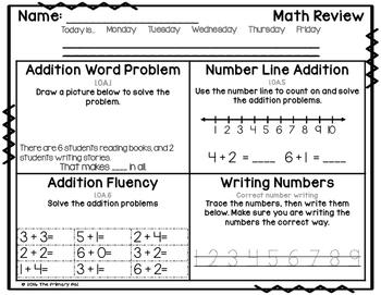 1st Grade Common Core Math Review: Set 3