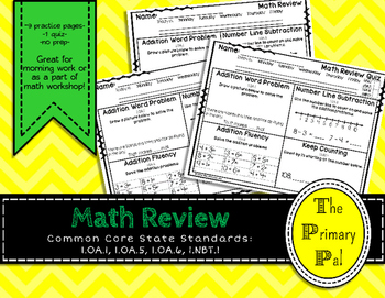 1st Grade Common Core Math Review: Set 4