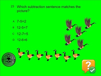 1st Grade Common Core Math Review Smartboard Whack a Mole