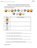 1st Grade Common Core Math Sheets 1.MD.4 Represent and Int