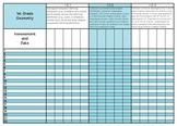 1st Grade Common Core Math Standards Gradebook