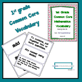 1st Grade Common Core Math Standards Vocabulary Cards