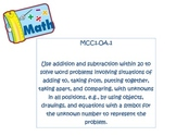 1st Grade Common Core Math Standards