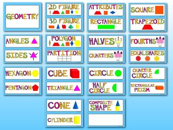 1st Grade Common Core Math Vocabulary - WORD WALL