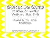 1st Grade Common Core Math Word Cards