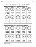 1st Grade Common Core Math Worksheet 1.MD.3 Telling Time t
