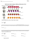 1st Grade Common Core Math Worksheet 1.OA.5 Counting On & Back to Add & Subtract