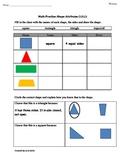 1st Grade Common Core Math Worksheets 1.G.1 Shape Attributes