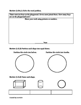 1st Grade Common Core Math Worksheets 1.MD.1 Compare and Order Length of Objects