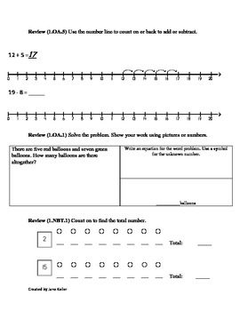 1st grade common core math by jane keller teachers pay teachers. Black Bedroom Furniture Sets. Home Design Ideas