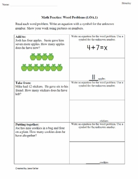 4th Nine Weeks Bundled First Grade Common Core Math Worksheets