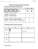 1st Grade Common Core Math Worksheets Place Value 1.NBT.2