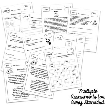 1st Grade Common Core Math and ELA Assessments Mega Pack