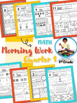 First Grade Morning Math-1st Qtr  (August, September, October)