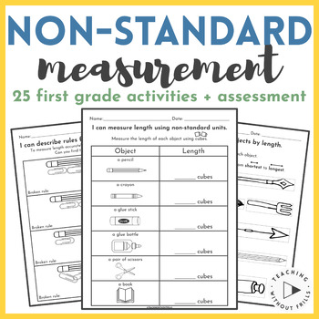 Non-Standard Measurement Packet: Measuring Length {1st Grade Common Core}