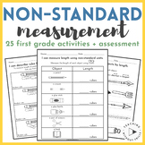 |First Grade| Non-Standard Measurement Packet for Measuring + Ordering by Length