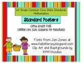1st Grade Common Core Posters for Mathematics