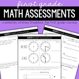 Math Pacing & Quarterly Assessments for 1st Grade