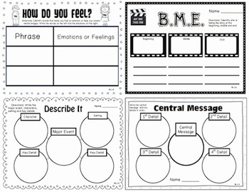 1st Grade Common Core: Quick Assessments/ Reading Response/ Graphic Organizers