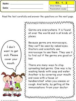 Common Core Reading Informational Text 1st Grade