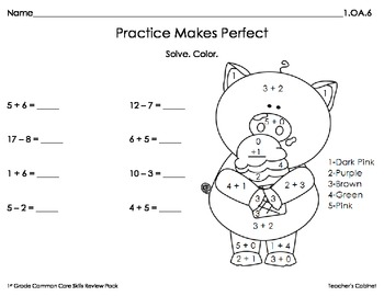 1st Grade Common Core Review Pack