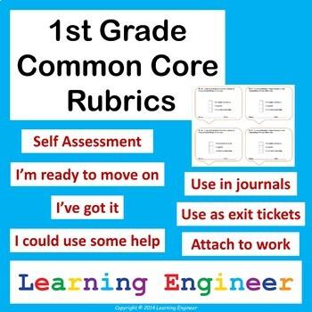 1st Grade Rubrics, 1st Grade Assessments