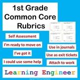 Standards Based Grading: 1st Grade Rubrics & Self Assessments
